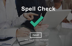 Spell Check Right Correctly Accuracy Concept Stock Images