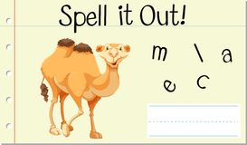 Spell English word camel royalty free stock photography