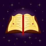 Spellbook em Dia das Bruxas ilustração royalty free