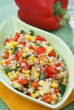 Spelled salad with vegetables Royalty Free Stock Images