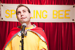 Spelling Bee Contestant Royalty Free Stock Images