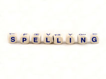 Spelling Blocks Royalty Free Stock Image