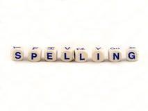 spelling för block Royaltyfri Bild