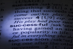 Spelling Successful word Royalty Free Stock Image