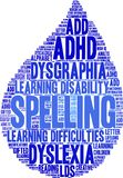 Spelling Word Cloud. On a white background Royalty Free Stock Images