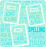 Spelling Word Cloud. On a white background Royalty Free Stock Photo