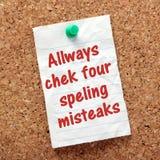 Spellingsconcept Royalty-vrije Stock Afbeeldingen