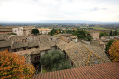 Spello. Landscape photographed from Spello - Umbria royalty free stock photos