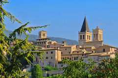 Spello. A typical town in Italy royalty free stock photo