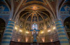 Indoor sight in Sant Andrea Church in Spello, Umbria, Italy. royalty free stock images
