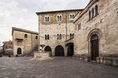 Spello. Medieval architecture in the small village of Spello, Umbria, Italy royalty free stock images