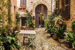 Spello. Medieval building in the small town of Spello, Italy stock images