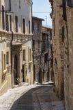 Spello Perugia, medeltida stad Royaltyfri Fotografi