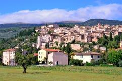 Spello, Umbrië, Italië Stock Foto's