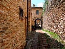 Spello, villaggio italiano fantastico fotografia stock libera da diritti