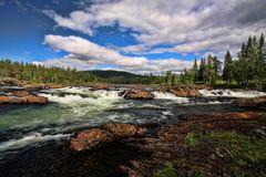 Spells of Norwegian mountain rivers, Norway. The spells of Norwegian mountain rivers, Norway Stock Photography