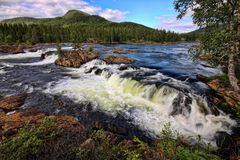Spells of Norwegian mountain rivers, Norway. The spells of Norwegian mountain rivers, Norway Stock Photos