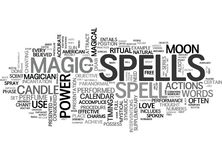 When Are Spells Performed Word Cloud Stock Photo
