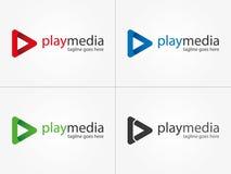 Spelmedia Embleem Het embleem van verschillende media Royalty-vrije Stock Afbeelding