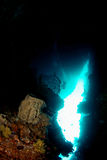 Spelonca subacquea Fotografia Stock
