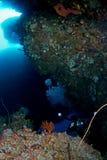 Spelonca subacquea Fotografia Stock Libera da Diritti