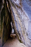 Spelonche del bagno in Virgin Gorda fotografia stock libera da diritti