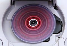 Spelpost met rollend kleurrijk CD-spel Royalty-vrije Stock Afbeelding