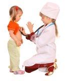 spelrum för barndoktorssjuksköterska Royaltyfri Bild