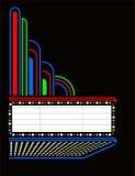 spelrum för eps-stort festtältfilm stock illustrationer
