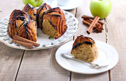 Spelt apple ring cake Stock Photos