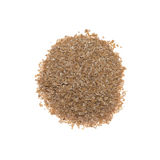 Spelt bran. Isolated on white background Stock Images