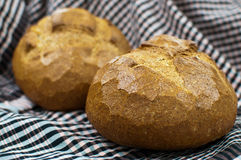 Spelt Bread. Set on fabric background Stock Photography