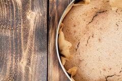 Spelt cake. Healthy spelt cake in a round baking sheet Royalty Free Stock Photos