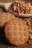 Spelt cookies and  spoon Stock Photo