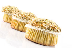 Spelt muffins with sesame and grains Royalty Free Stock Photos