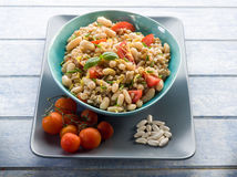 Spelt risotto with beans Royalty Free Stock Images