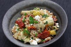 Spelt salad, insalata di farro, italian cuisine Royalty Free Stock Photo