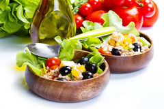 Spelt salad on white background Stock Images