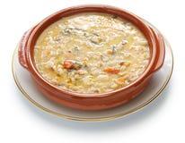 Spelt soup, farro soup, italian cuisine Royalty Free Stock Image