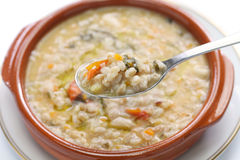 Spelt soup, farro soup, italian cuisine Royalty Free Stock Photography
