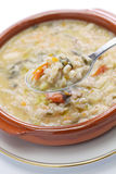 Spelt soup, farro soup, italian cuisine Stock Photography