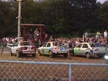 Spencer fair  demolition derby Stock Images