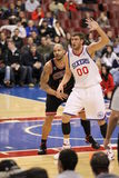 Spencer Hawes & Carlos Boozer Royalty Free Stock Images