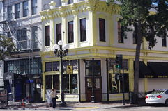 Spencer Ogden Building bij 5de Ave in het Kwart van San Diego's Gaslamp Royalty-vrije Stock Fotografie