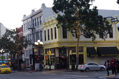 The Spencer Ogden Building at 5th Ave in San Diego's Gaslamp Quarter Stock Photography