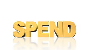 Spend Debt Explode Royalty Free Stock Photography
