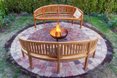 Spend the evening around the campfire at the fireplace in your own garden