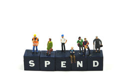 Spend money. To keep the economy going, spend money Royalty Free Stock Image
