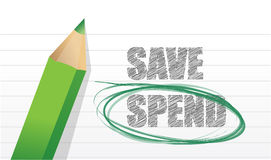 Spend instead of Save Stock Image