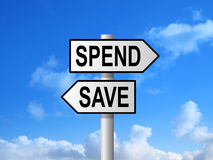 Spend Save Sign Royalty Free Stock Image